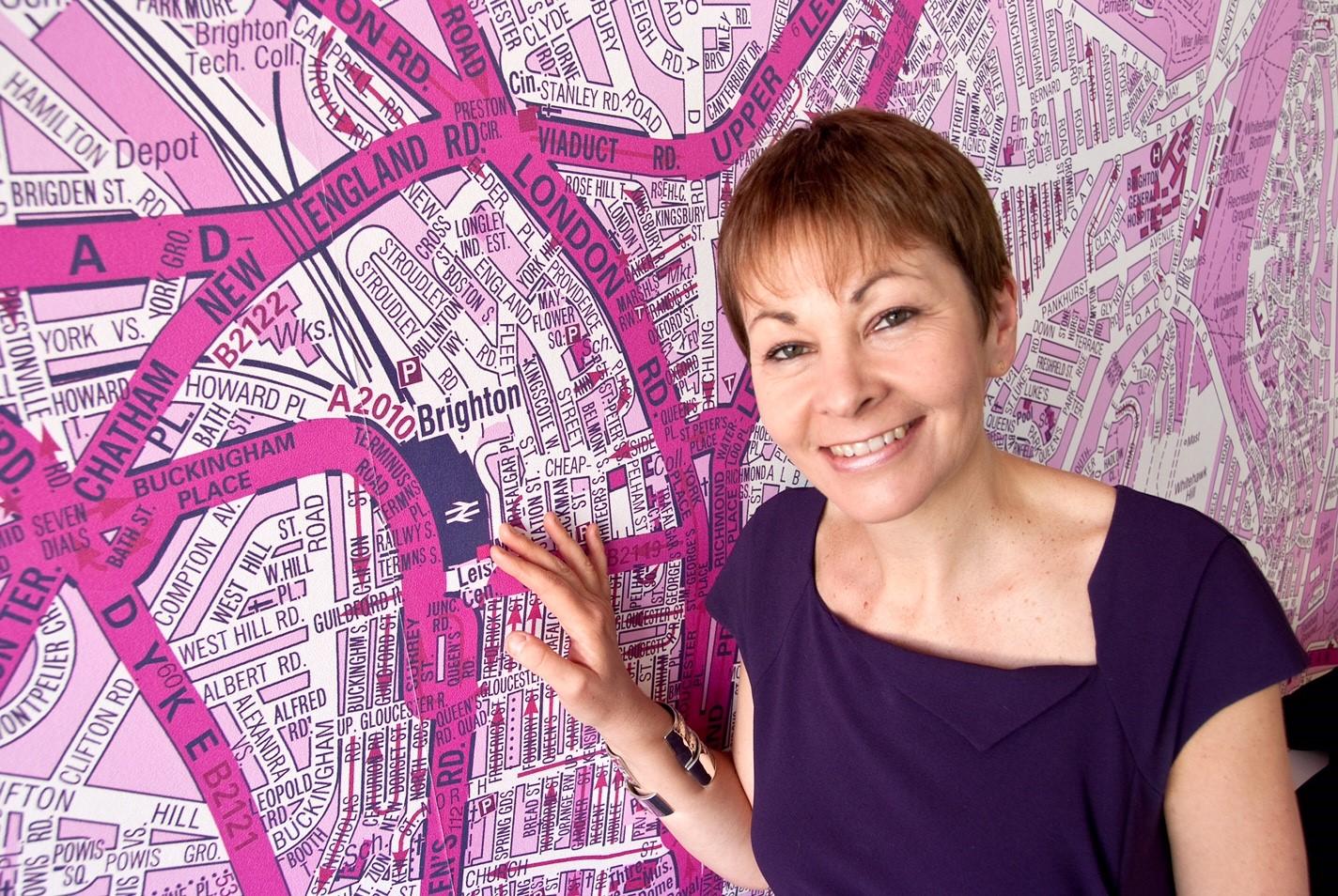 Caroline - Brighton Pavilion map
